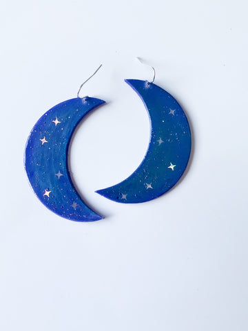 Bad Moon Rising Handmade Earrings