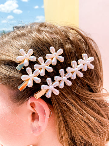 Forget Me Not Hair Clips