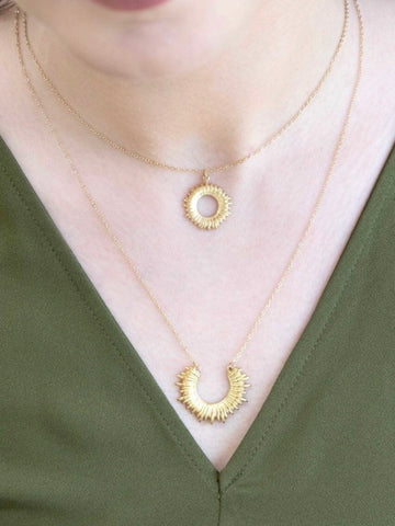Double Ray Of Sunshine Necklace