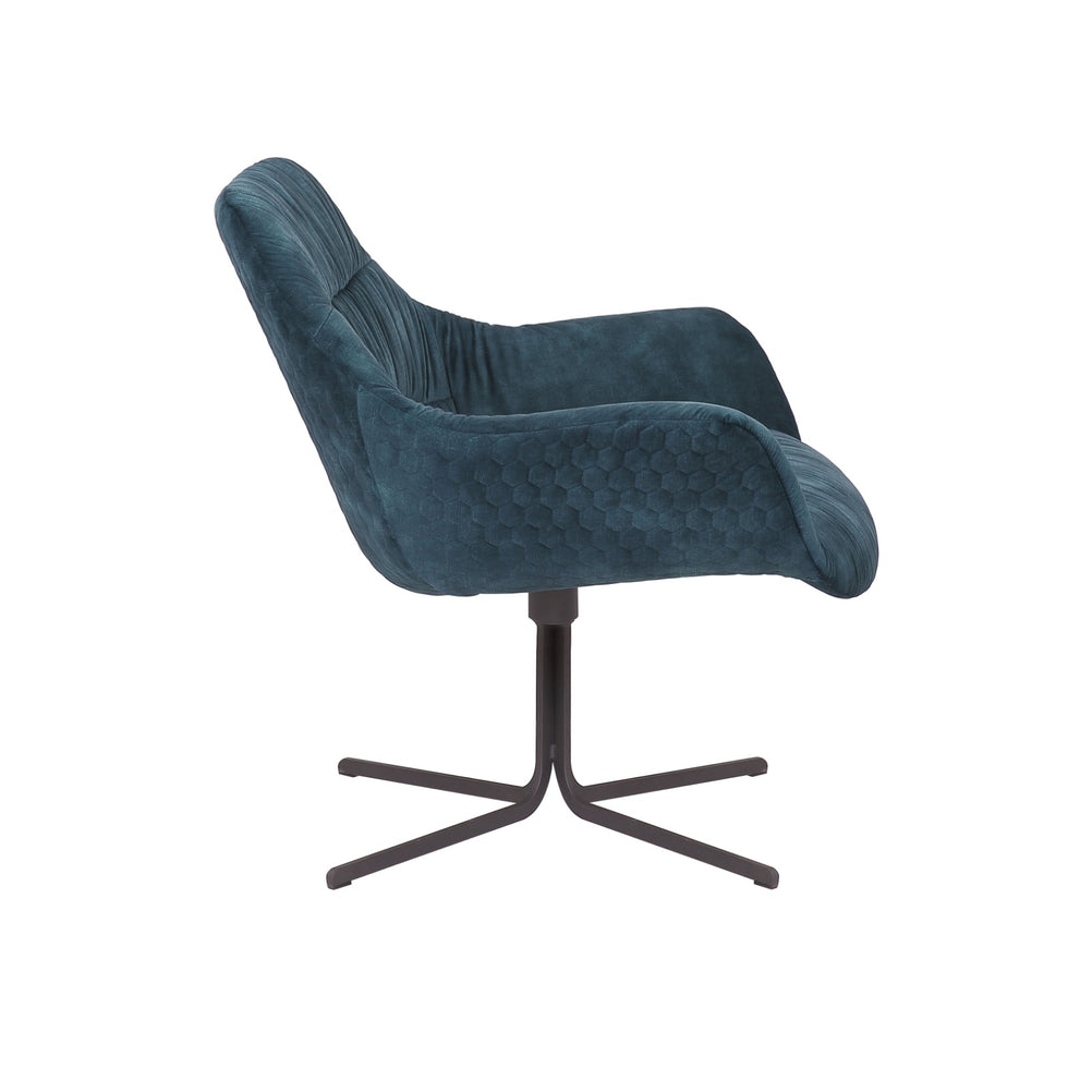 Samt Sessel Royal blau drehbar