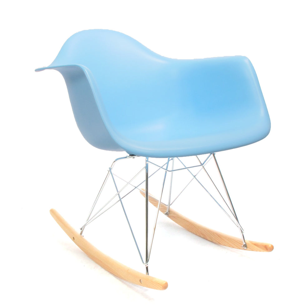 Eames RAR schommelstoel blauw - Charles & Ray Eames