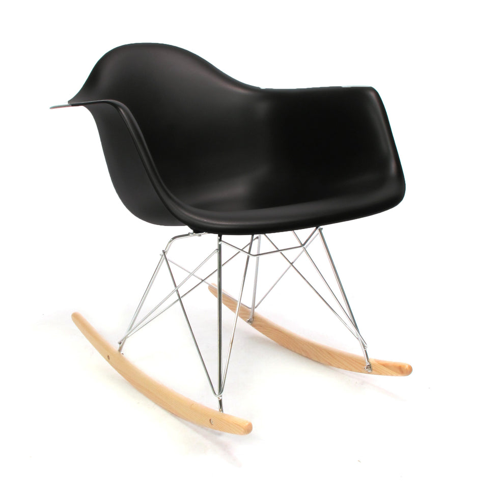 Eames RAR schommelstoel zwart - RAR Rocking chair