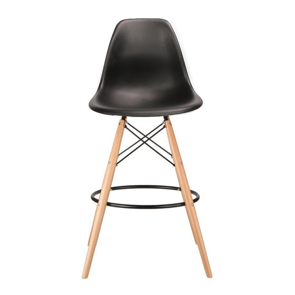 Eames DSW barkruk zwart - Ray & Charles Eames chairs