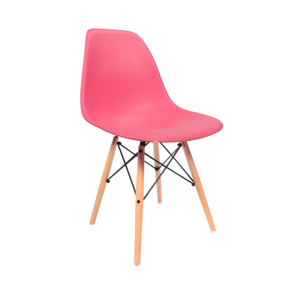 Eames DSW chair roze - Charles & Ray Eames chairs