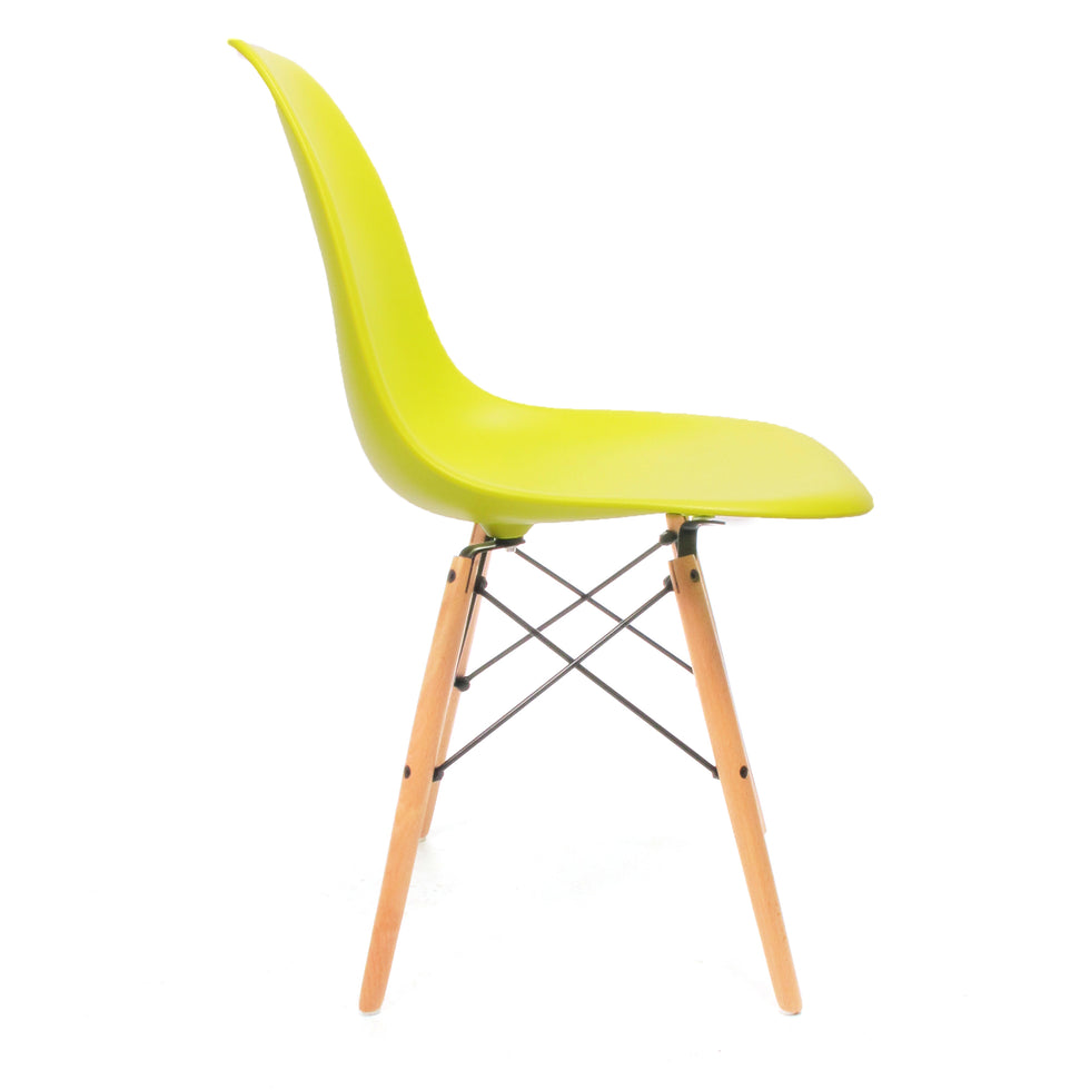Eames DSW chair lime geel