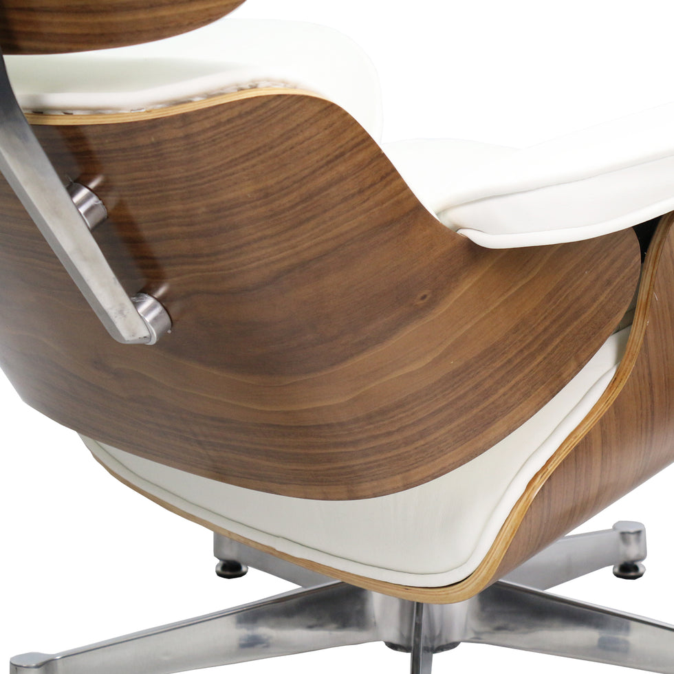 Eames Lounge Chair met ottoman wit walnut - Charles & Ray Eames