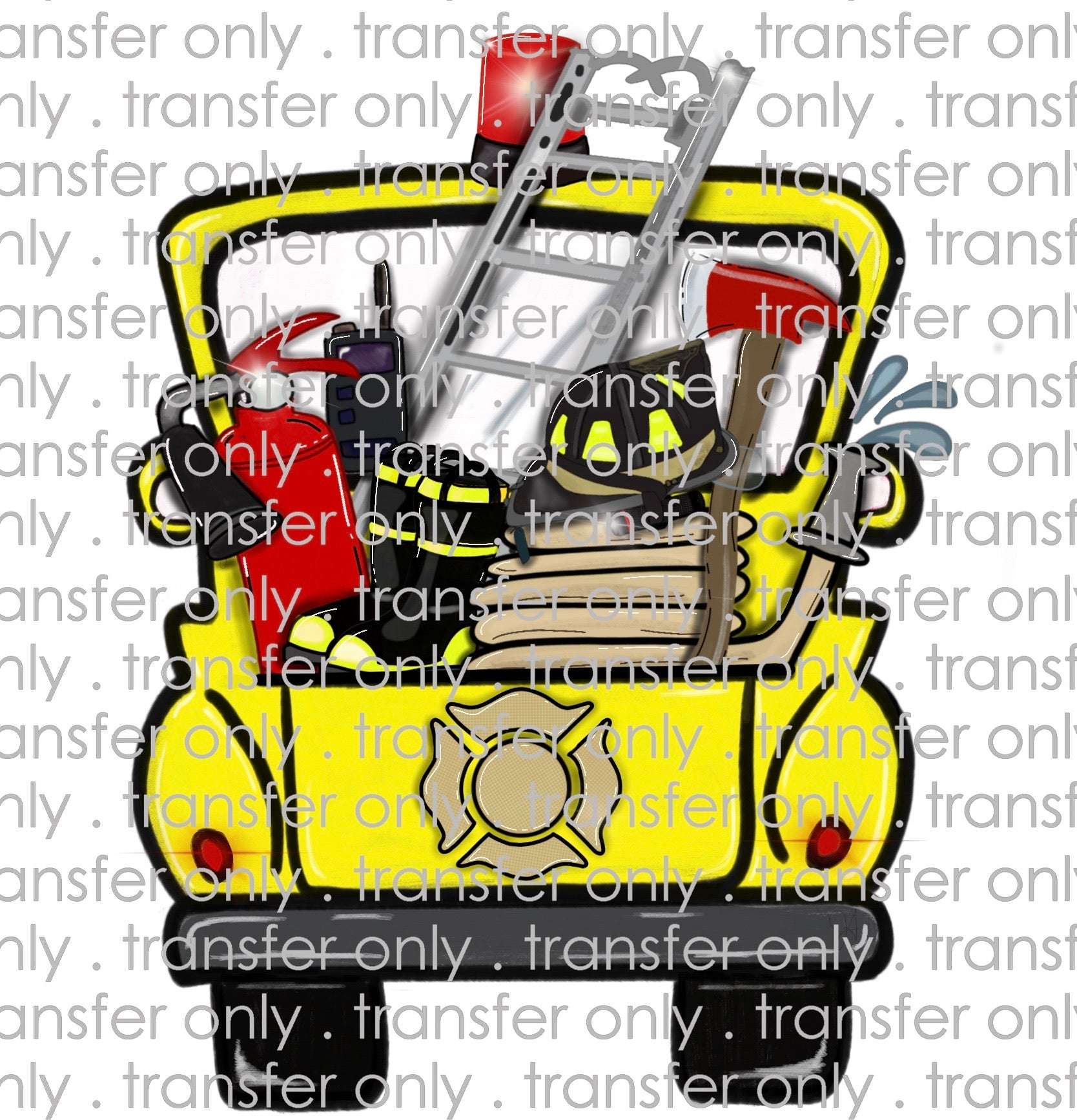 Yellow Fire Truck