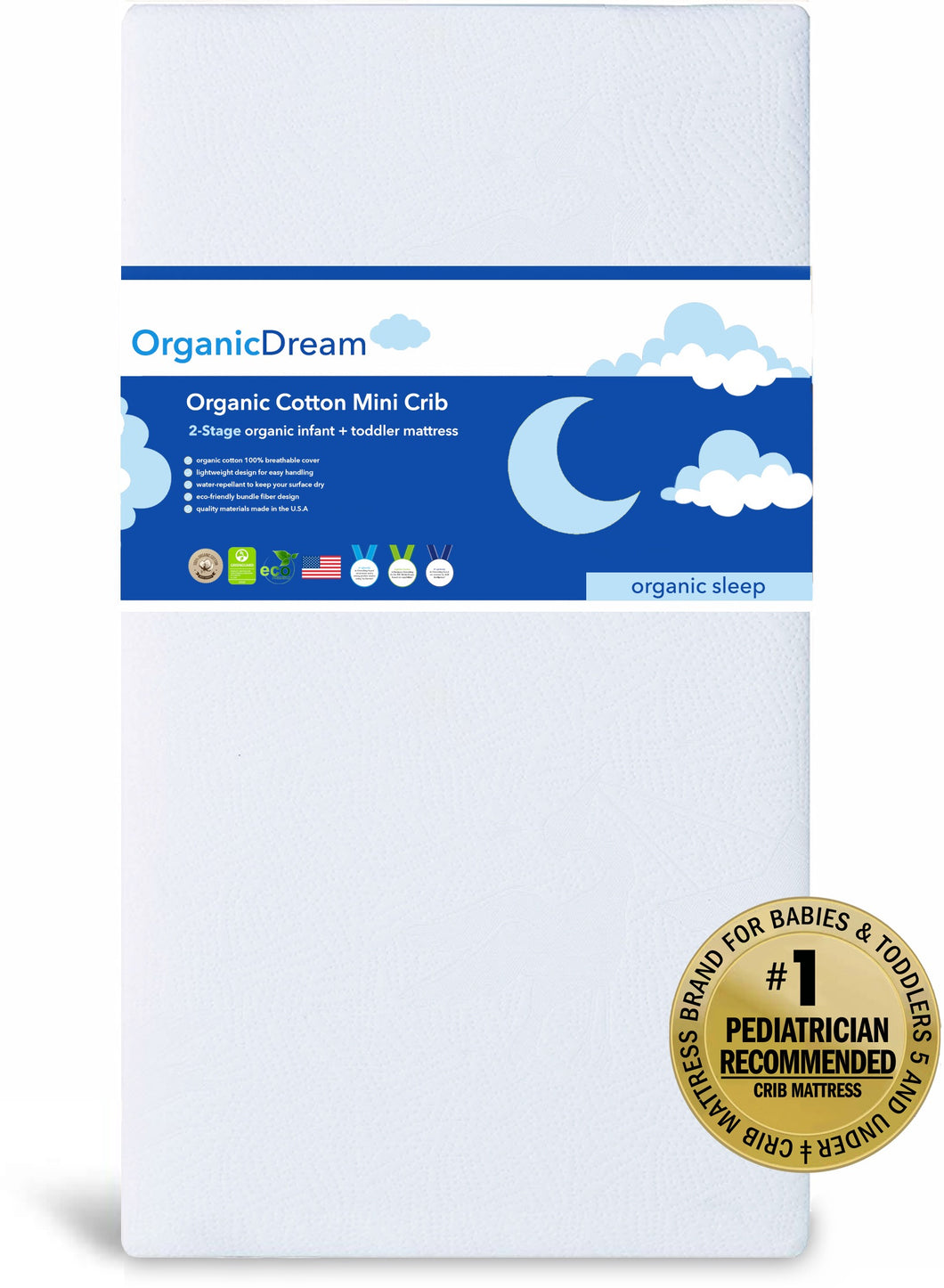 Organic Cotton Mini Crib Mattress