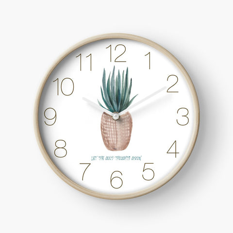Infinitee Clock, Let The Good Thoughts Grow, Redbubble