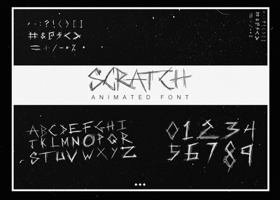 Introducing: SCRATCH Animated Font