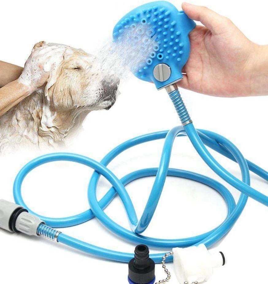 Pet Shower Sprayer & Scrubber Bathing Tool