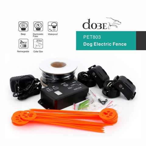 Hot Waterproof Electric Dog Fence Electronic Pet Fencing System Runaway Dog Suitable for Medium / Large Dogs Pet Fence