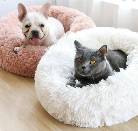Best Calming Dog Beds For Anxiety Relieving & Cuddling Your Pet In Round Orthopedic Soft Donut Style