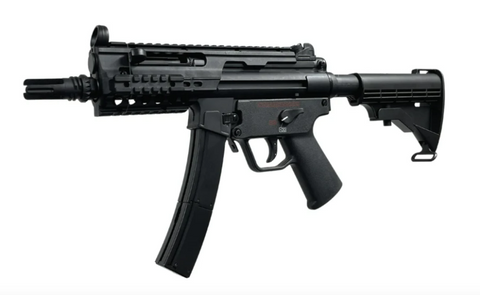 Well MP5K/G56 PDW Green Gas powered SMG (M4 Stock) - Gel Blaster Guns, Pistols, Handguns, Rifles For Sale