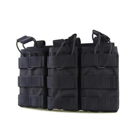 Triple Magazine Pouch - Black - Gel Blaster Tactical Gear For Sale