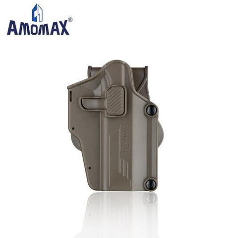 AMOMAX PER-FIT HARD SHELL HOLSTER (Tan FDE) - Gel Blaster Tactical Gear For Sale