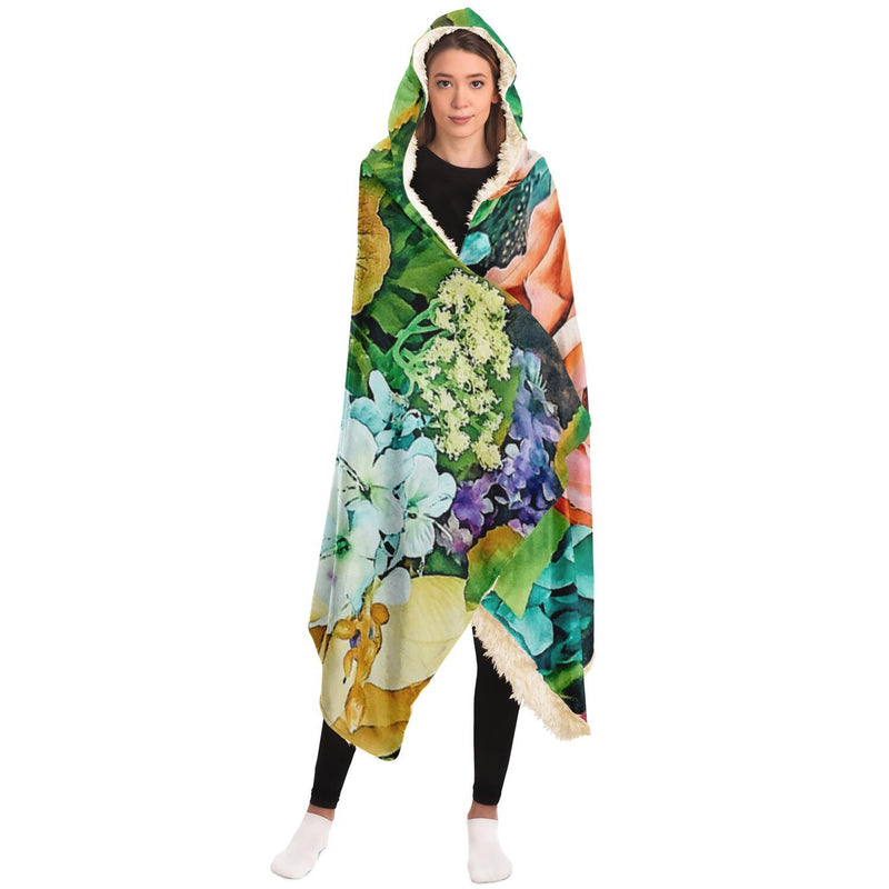 Vintage Garden Hooded Blanket - Fizzypopization