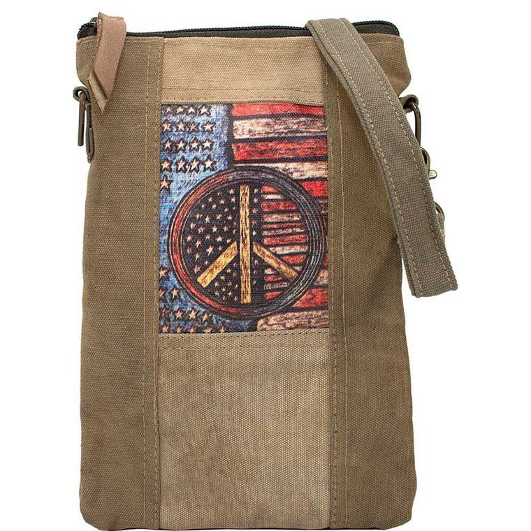 Peace Flag Recycled Tent Crossbody - Fizzypopization