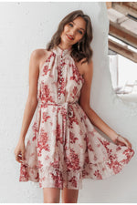 Elegant Halter Button Up Summer Dress - Fizzypopization