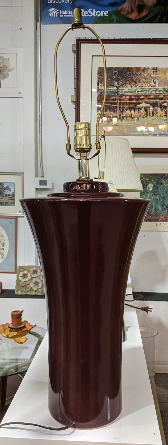 Maroon Table Lamp
