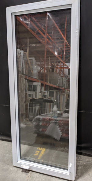 "Tall White Vinyl Casement Window (30"" X 72"")"