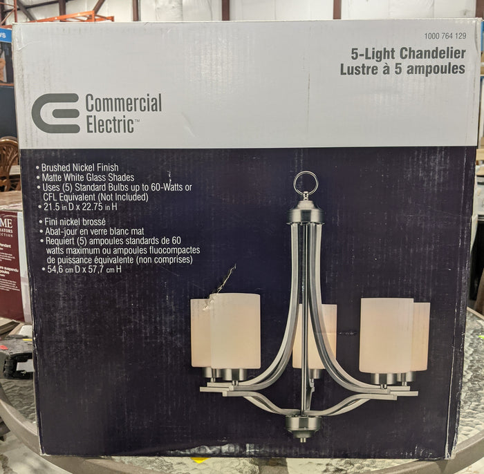Nickel 5-Light Chandelier