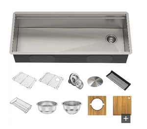 Undermount Single Bowl Stainless Steel Sink with Accessories