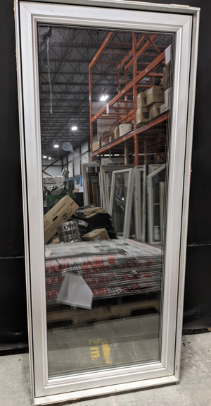 "Tall White Vinyl Casement Window with Metal Interior (31"" X 71"")"