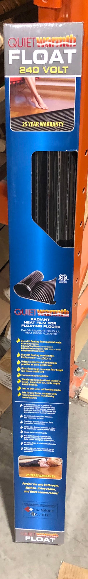 Quiet Warmth 240V Radiant Heat Film for Floating Floors
