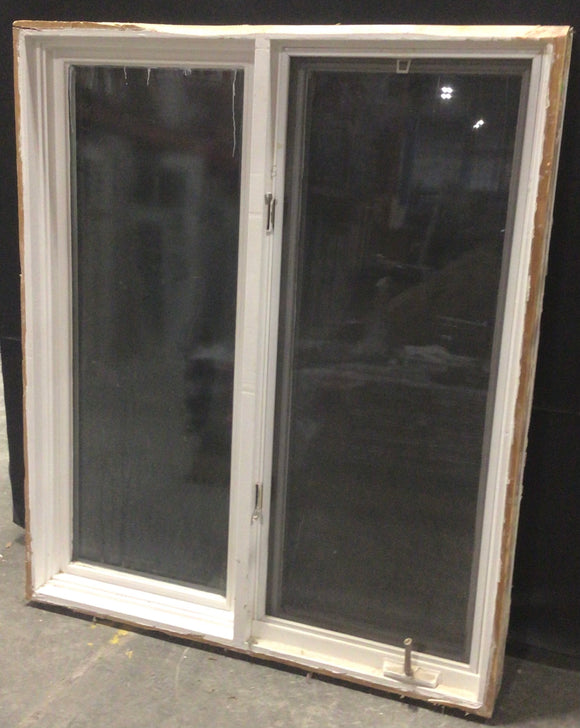 White Casement Window with Screen (46.25x55.5x5)