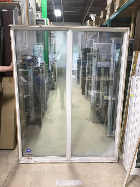 White Double Picture Window - (55.5x6x71)