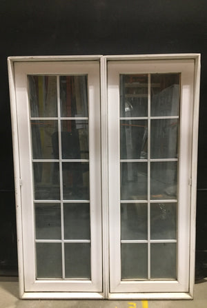 "White Vinyl Double Casement Window (40.75"" x 55"" x 4.5"")"