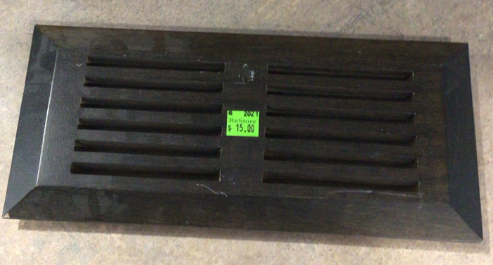 "Hardwood Top Mount Floor Register (4""x10"")"