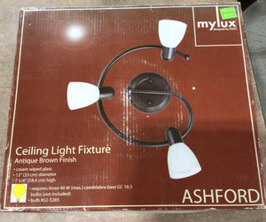 Brown Curved Ceiling Light