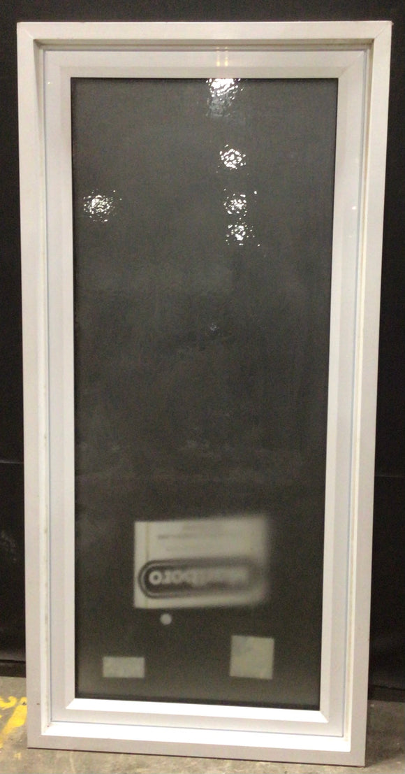 White Frosted Glass Fixed Window (32.25x67.5x6)