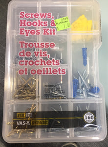 Fix It! Screws, Hooks & Eyes Kit