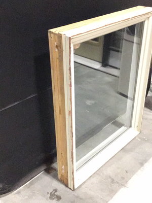 White Wood and Vinyl Casement Window - (31.5x39x6)