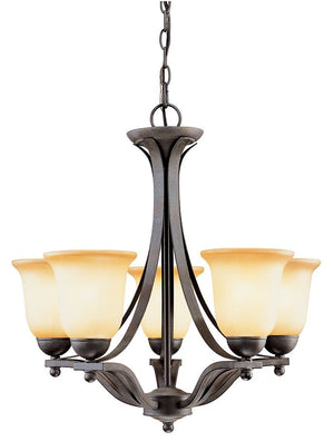 Five Light Iron Chandelier