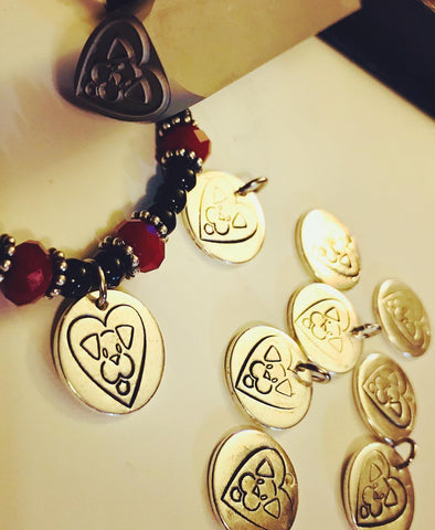 Stray from the Heart custom bracelet created by Amy Delson Jewelry.