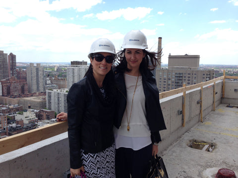 Amy Delson on NYC rooftop working in Real Estate PR