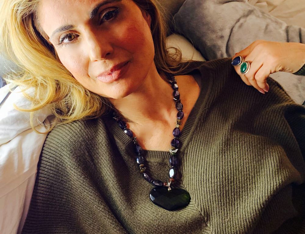 Amy Delson Jewelry Gretchen Necklace and Malka Ring