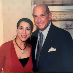 Amy Delson and Oscar de la Renta, 2002