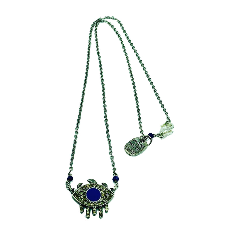 Amy Delson Jewelry Diamond Evil Eye Necklace