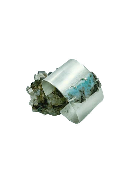 Amy Delson Jewelry Larimar Sterling Silver Cuff
