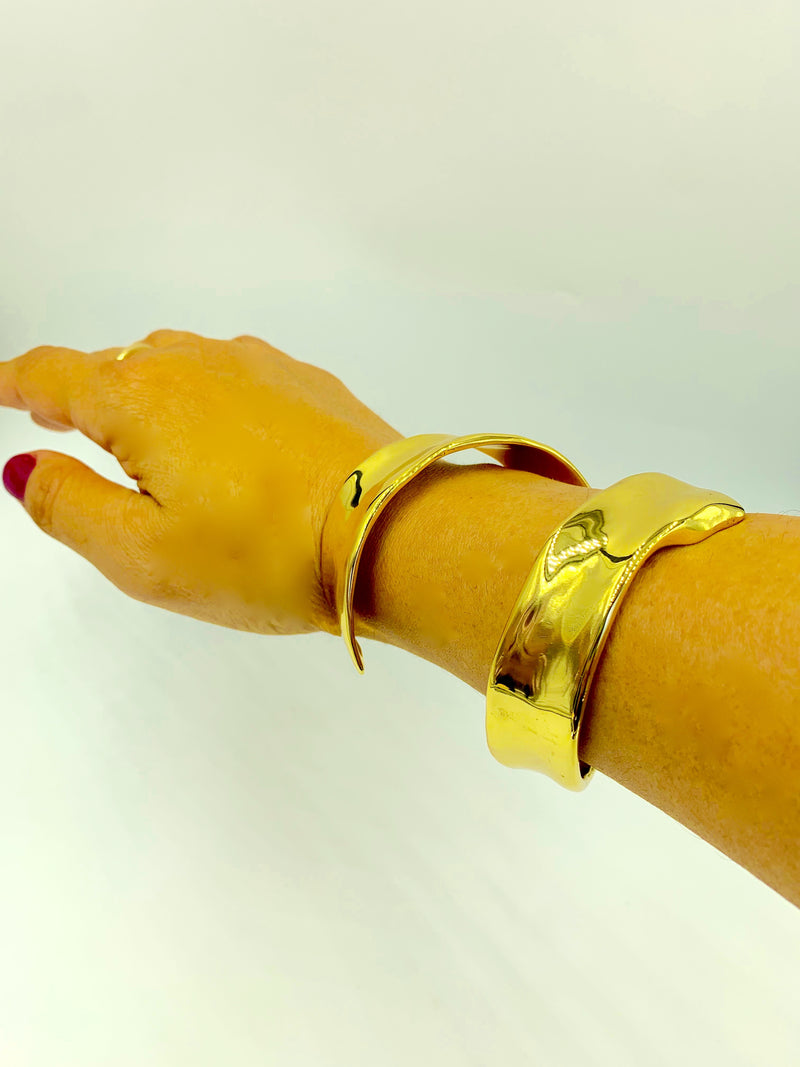 18K Gold plated Frida Cuff by Amy Delson Jewelry