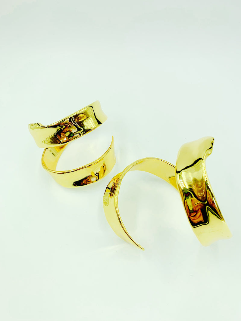 18K Gold plated Frida Cuffs by Amy Delson Jewelry