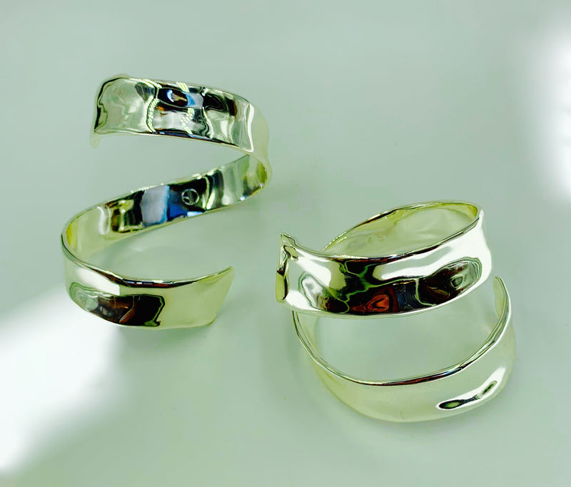 Sterling Silver plated Amy Delson Jewelry Frida Cuffs