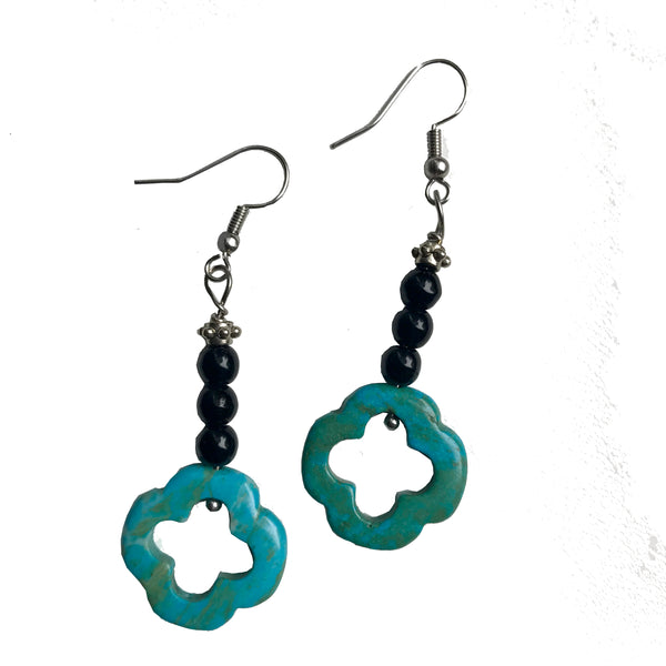 Turquoise clover earrings by Amy Delson Jewelry