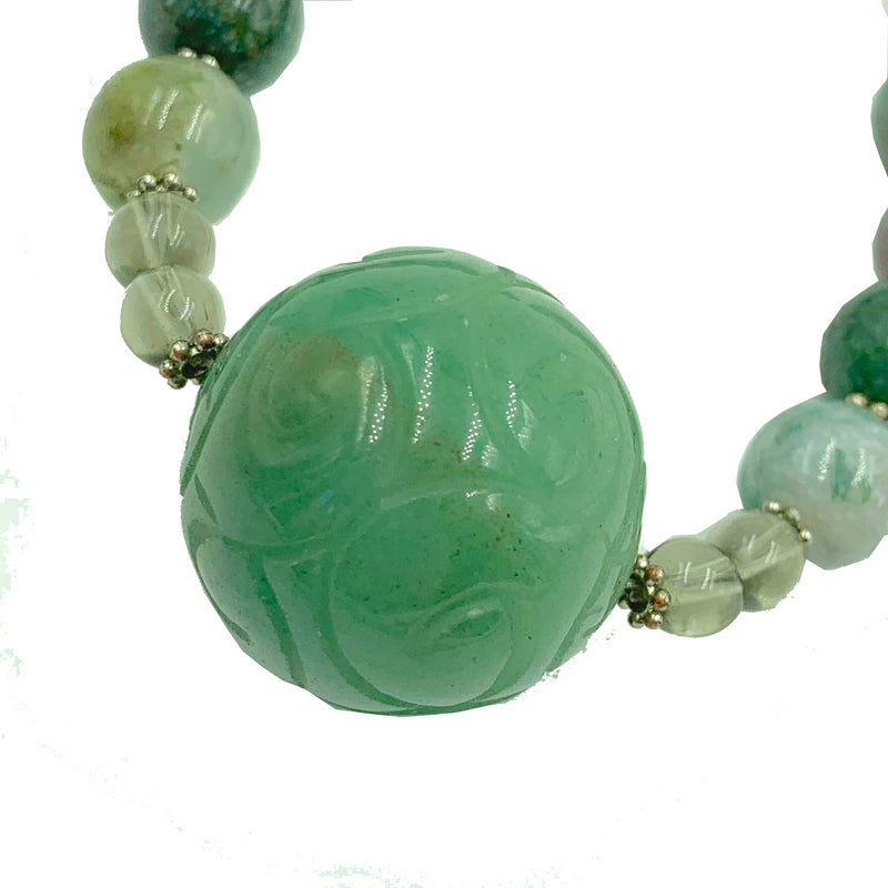 Amy Delson Jewelry Green Aventurine and Jasper Necklace