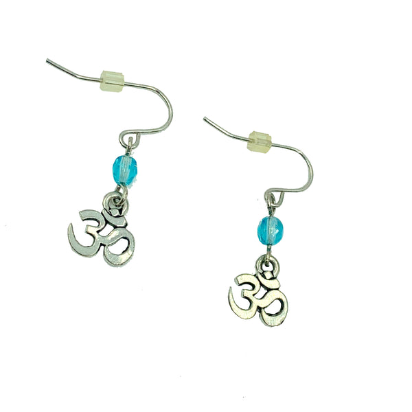 Amy Delson Jewelry blue Om earrings